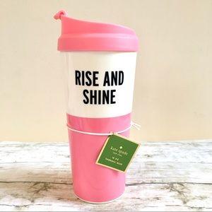 Kate Spade Travel Tumbler Rise & Shine Cream/Pink